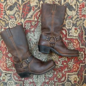 Frye Dark Brown 12R Harness Boots